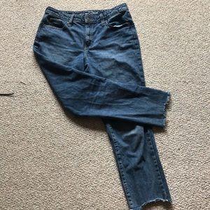 Raw Hem Mom Jeans- universal thread